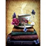 Puzzle  Sunsout-42979 XXL Teile - Tea and Books