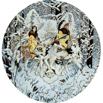 Puzzle  Sunsout-43001 Diana Casey - Keeper of the Wolf