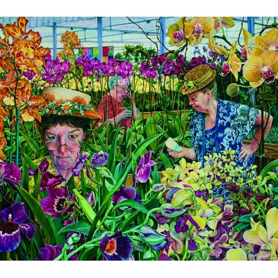 Puzzle Sunsout-44232 XXL Teile - Orchid Society