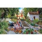 Puzzle  Sunsout-44389 Susan Brabeau - Garden Scene