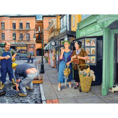 Puzzle  Sunsout-44532 Susan Brabeau - Shopping Surprise