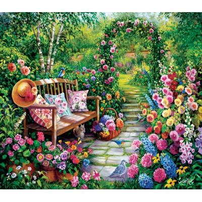 Puzzle  Sunsout-45449 Susan Rios - Kim's Garden