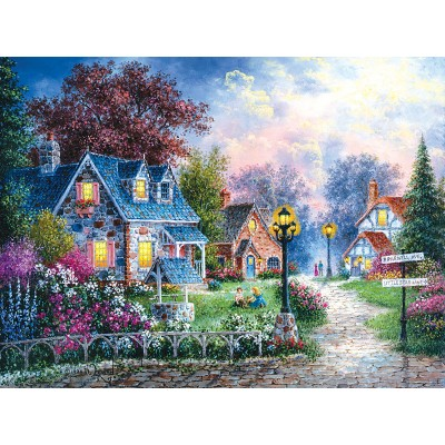 Puzzle Sunsout-48384 Dennis Lewan - Bearwell Lane