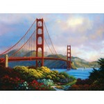 Puzzle  Sunsout-48511 XXL Teile - Morning at the Golden Gate