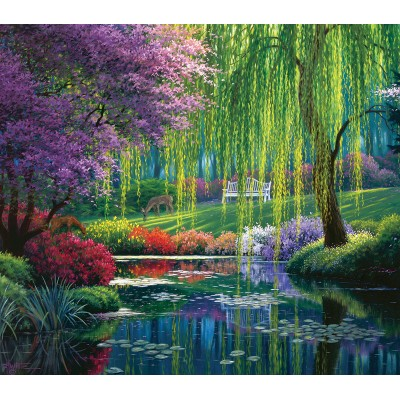 Puzzle  Sunsout-48516 XXL Teile - Willow Pond