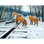 Puzzle  Sunsout-48831 XXL Teile - Fox Tracks