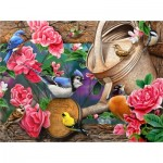 Puzzle  Sunsout-49016 Jerry Gadamus - Watering Can Birds