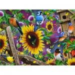 Puzzle  Sunsout-49049 Jerry Gadamus - Fenceline Birds