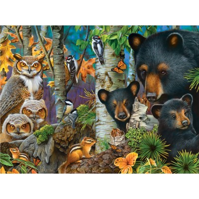 Puzzle  Sunsout-49072 Jerry Gadamus - A Family Gathering