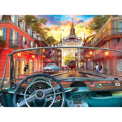 Puzzle  Sunsout-50070 XXL Teile - Window on New Orleans
