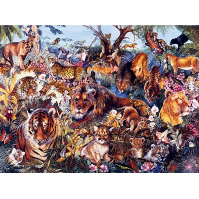 Puzzle  Sunsout-50078 XXL Teile - Animal Fantasia