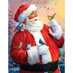Puzzle  Sunsout-50730 Larry Jones - Morning Meeting with Santa