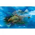 Puzzle  Sunsout-50777 Gordon Semmens - Eagle Dreamscape