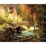 Puzzle  Sunsout-51050 Roberta Wesley - Bearly Daylight