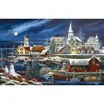 Puzzle  Sunsout-51182 Debbi Wetzel - Winter Harbor
