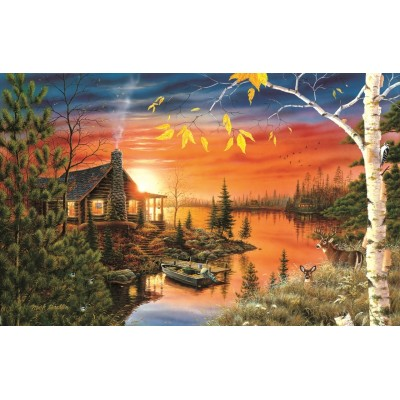 Puzzle  Sunsout-51847 Mark Daehlin - Autumn Evening
