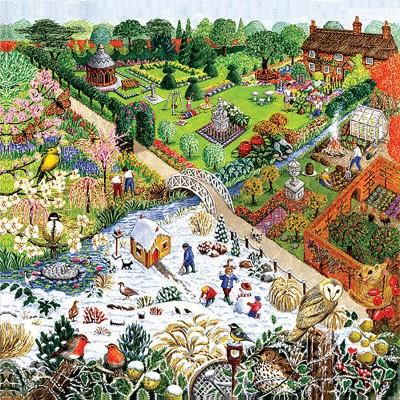 Puzzle Sunsout-52421 XXL Teile - Four Seasons Garden