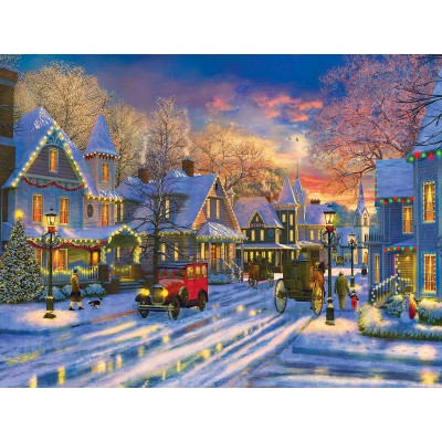Puzzle  Sunsout-52488 XXL Teile - Dominic Davison - Small Town Holiday