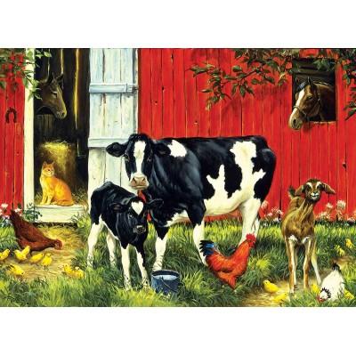 Puzzle  Sunsout-52624 Linda Picken - Old MacDonald's Farm