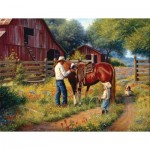 Puzzle  Sunsout-53084 XXL Teile - Mark Keathley - Learning the Ropes