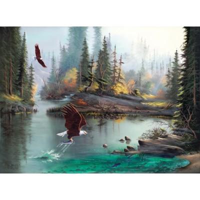 Puzzle  Sunsout-53124 XXL Teile - Lionel Dougy and T. Atkinson - River Eagles