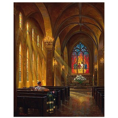 Puzzle  Sunsout-53130 Mark Keathley -  Sanctuary of Peace
