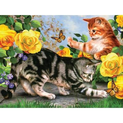 Puzzle  Sunsout-54933 XXL Teile - Kitten Play