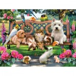 Puzzle  Sunsout-54938 XXL Teile - Pets in the Park