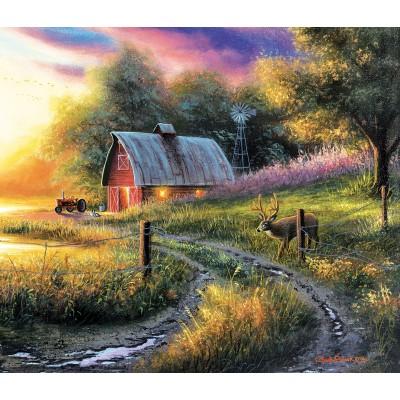 Puzzle  Sunsout-55129 Chuck Black - The Evening Routine