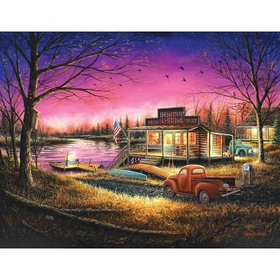 Puzzle  Sunsout-55139 XXL Teile - Chuck Black - A Perfect Evening