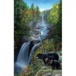 Puzzle  Sunsout-55795 Kevin Daniel - Bears at the Waterfall