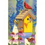 Puzzle  Sunsout-55975 Jeffrey Hoff - The Yellow Birdhouse