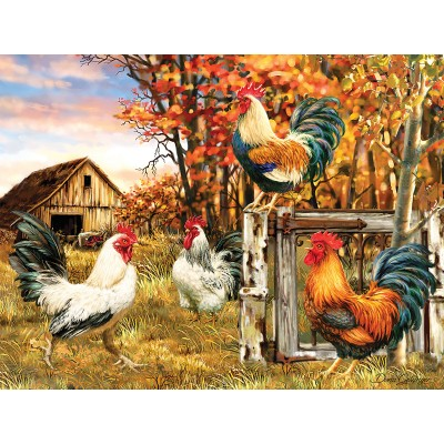 Puzzle  Sunsout-57179 XXL Teile - Rooster Farm