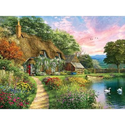 Puzzle Sunsout-58284 Dominic Davison - Sunset Country Cottage