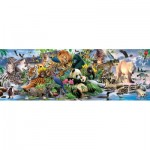 Puzzle  Sunsout-59394 XXL Teile - Around the World