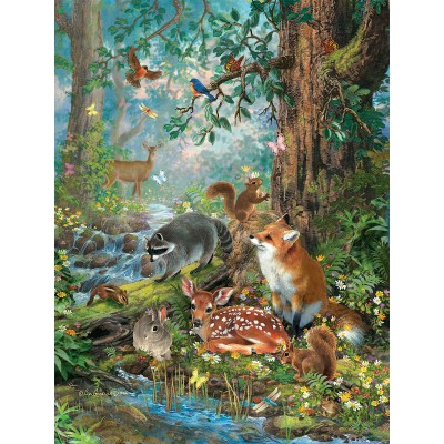 Puzzle Sunsout-59788 XXL Teile - Woodland Forest Friends