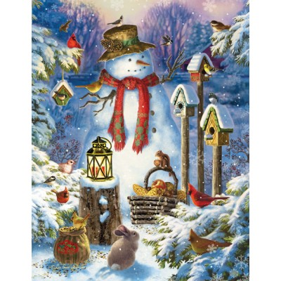Puzzle  Sunsout-59794 XXL Teile - Liz Goodrich Dillon - Snowman in the Wild