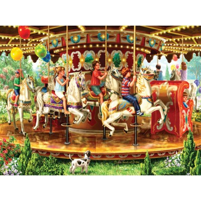 Puzzle  Sunsout-59798 Liz Goodrick-Dillon - Carousel Ride