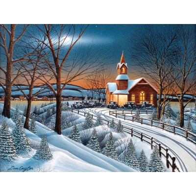 Puzzle  Sunsout-60328 XXL Teile - Winter Evening Service