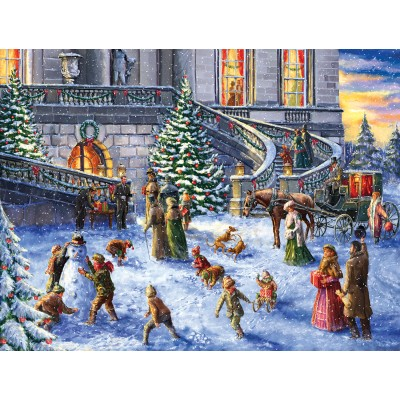 Puzzle  Sunsout-60617 XXL Teile - A Traditional English Christmas