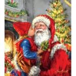 Puzzle  Sunsout-60662 XXL Teile - Kissing Santa