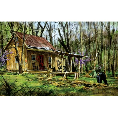 Puzzle  Sunsout-60739 Luke Buck - Mark's Cabin