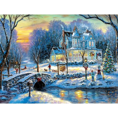 Puzzle  Sunsout-60760 Robert Finale - A White Christmas