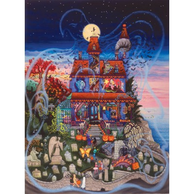 Puzzle Sunsout-60877 Kathy Jakobsen -  The Ghost and the Haunted House