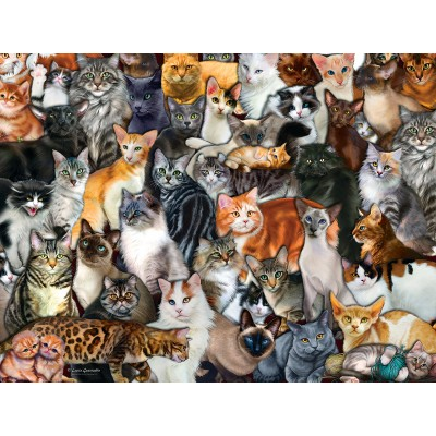 Puzzle  Sunsout-60934 XXL Teile - Cat Collage