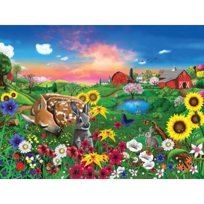 Puzzle  Sunsout-60940 XXL Teile - Gerald Newton - Peaceful Pastures