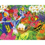 Puzzle  Sunsout-62902 XXL Teile - Nancy Wernersbach - A Home for Butterflies