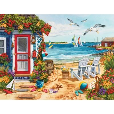 Puzzle Sunsout-62924 Nancy Wernersbach - Beach Summer Cottage