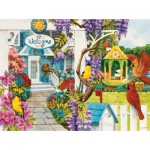 Puzzle  Sunsout-62939 Nancy Wernersbach - Wisteria Cottage