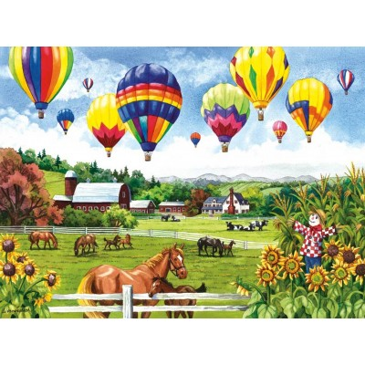 Puzzle  Sunsout-62967 XXL Teile - Balloons over Fields